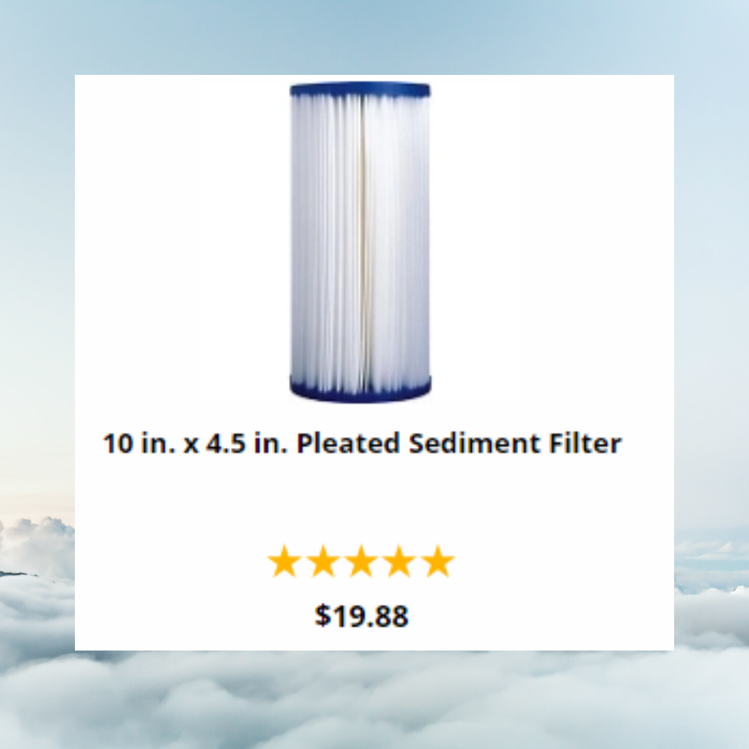 10 in. x 4.5 in. Pleated Sediment Filter Washable Best