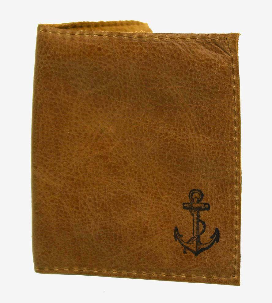 Anchor leather billfold wallet billfold wallet leather
