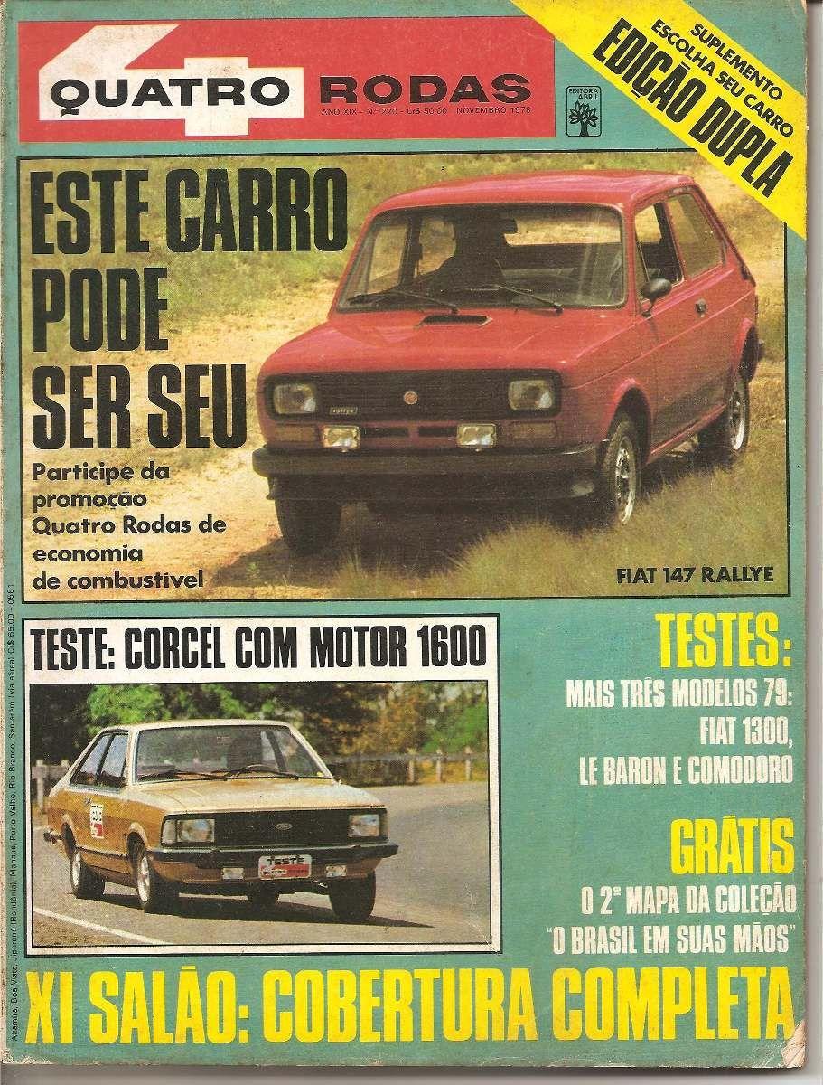 Revista Quatro Rodas Nº 220 Novembro 1978 Vw Gol Revista