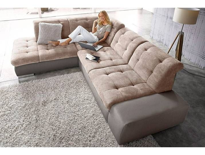 Sit More Ecksofa Wahlweise Mit Bettfunktion Braun Luxus