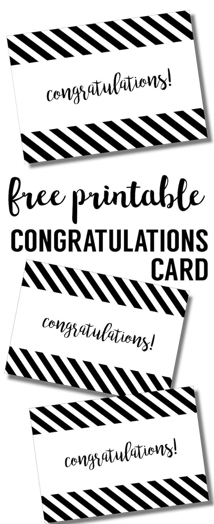Free Printable Congratulations Card Congratulations Card