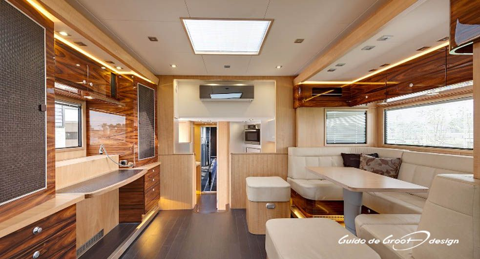 The Interior Of This Luxury Rv Unit Horse Truck Might