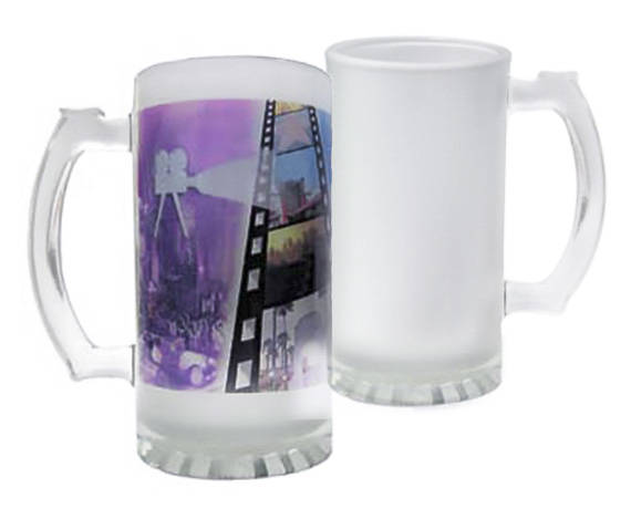 6b460612e08f6 Sublimation Blank Beer Mug, 16 oz Frosted Glass Mug, Frosted Glass ...