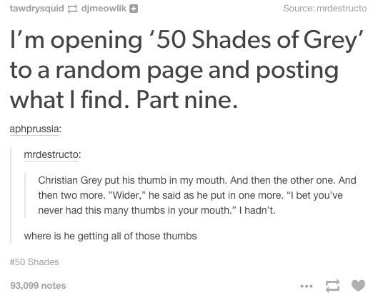 50 Shades Of Grey Excerpt Hilarious Tumblr Funny Funny Funny
