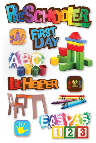 Paper House Productions 3 Dimensional Cardstock Stickers Pre