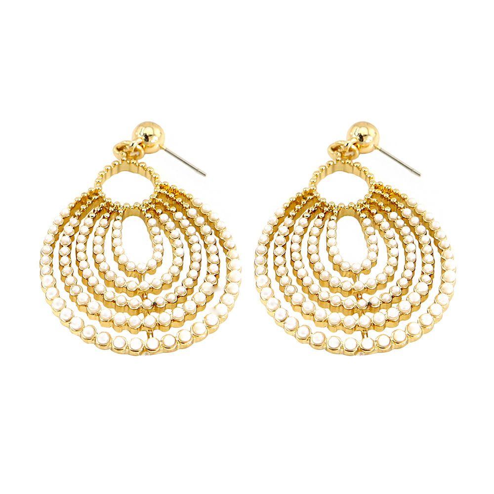 Hollow Drop Earrings For Women Gold Costume Jewelry Dangle Pearl Bead Trinketsea Dropdangle