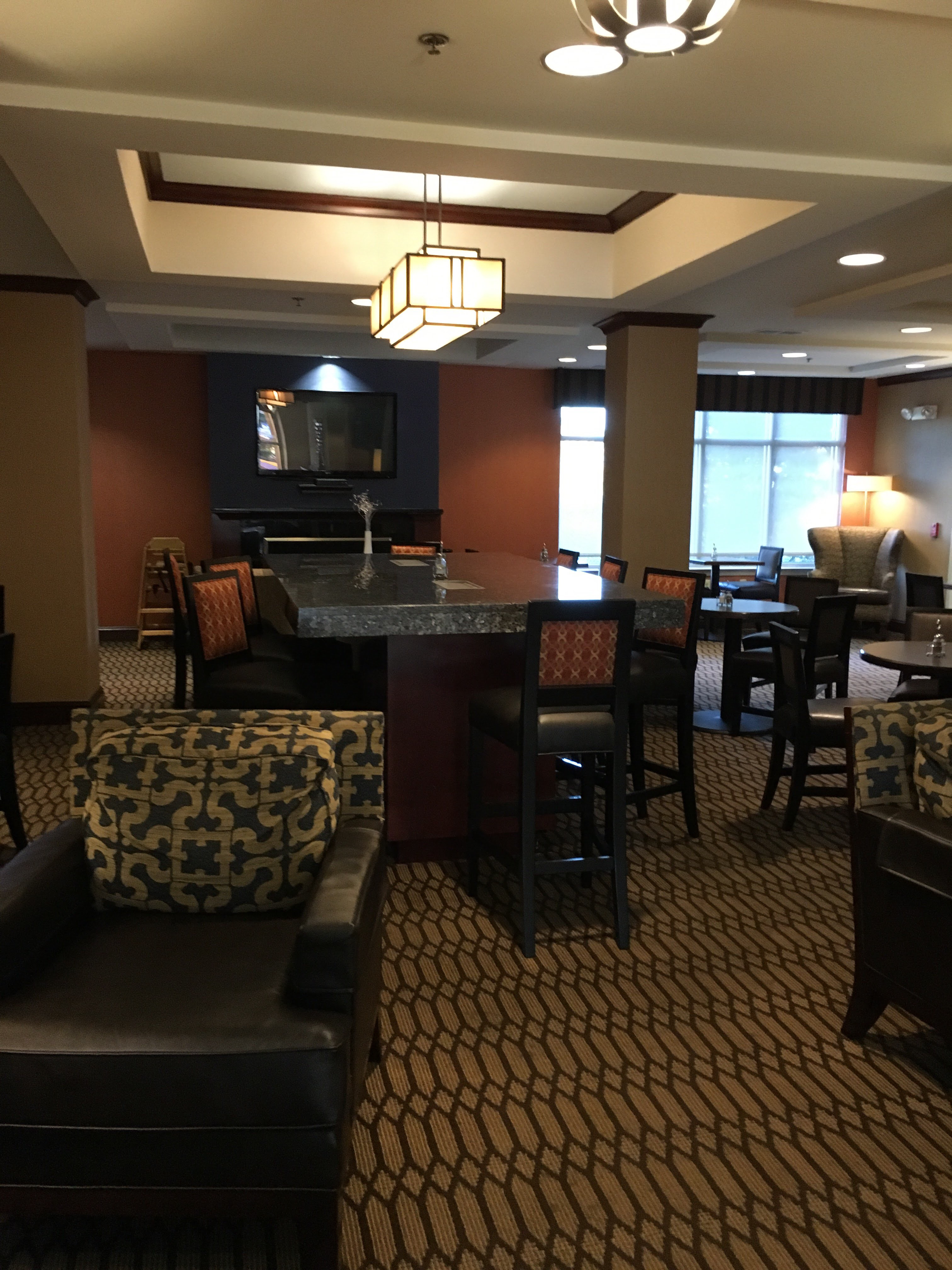 Here\'s another photo of the lobby of the Holiday Inn Express and ...
