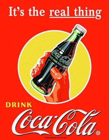 Coca-Cola Targa in alluminio
