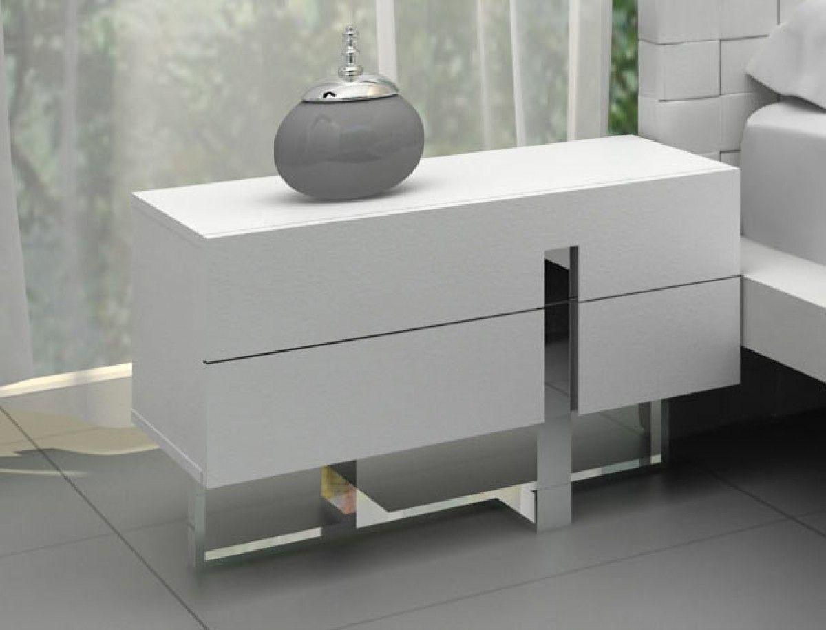 Modrest Voco Modern White Bedroom Nightstand Bedroom Night