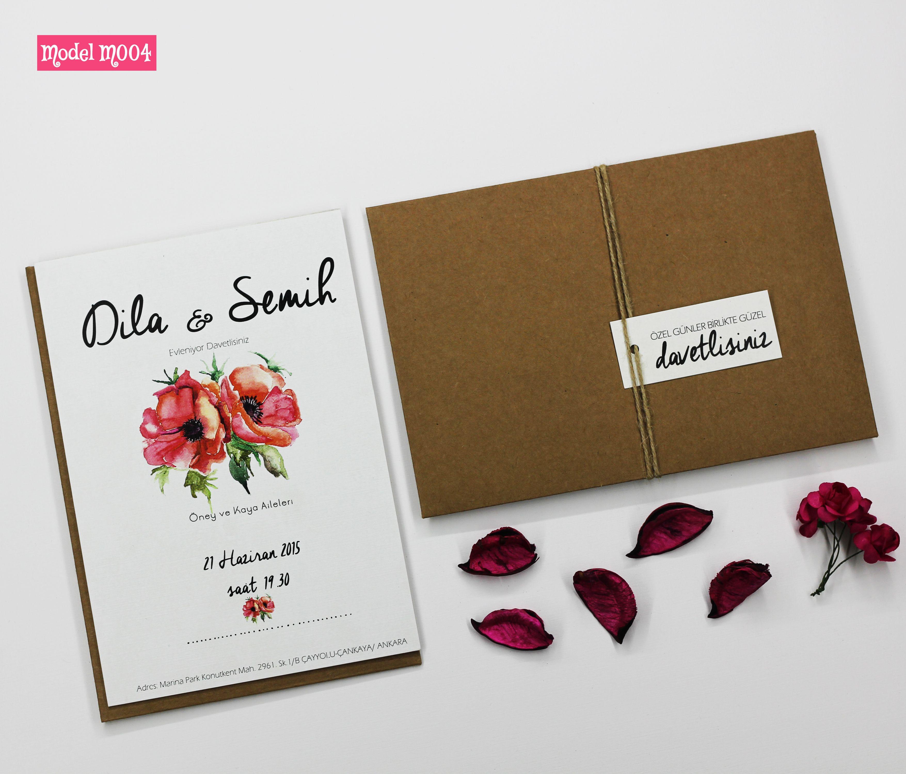 Lovely Wedding Invitation Kia Iye A Zel Davetiye Modelleri