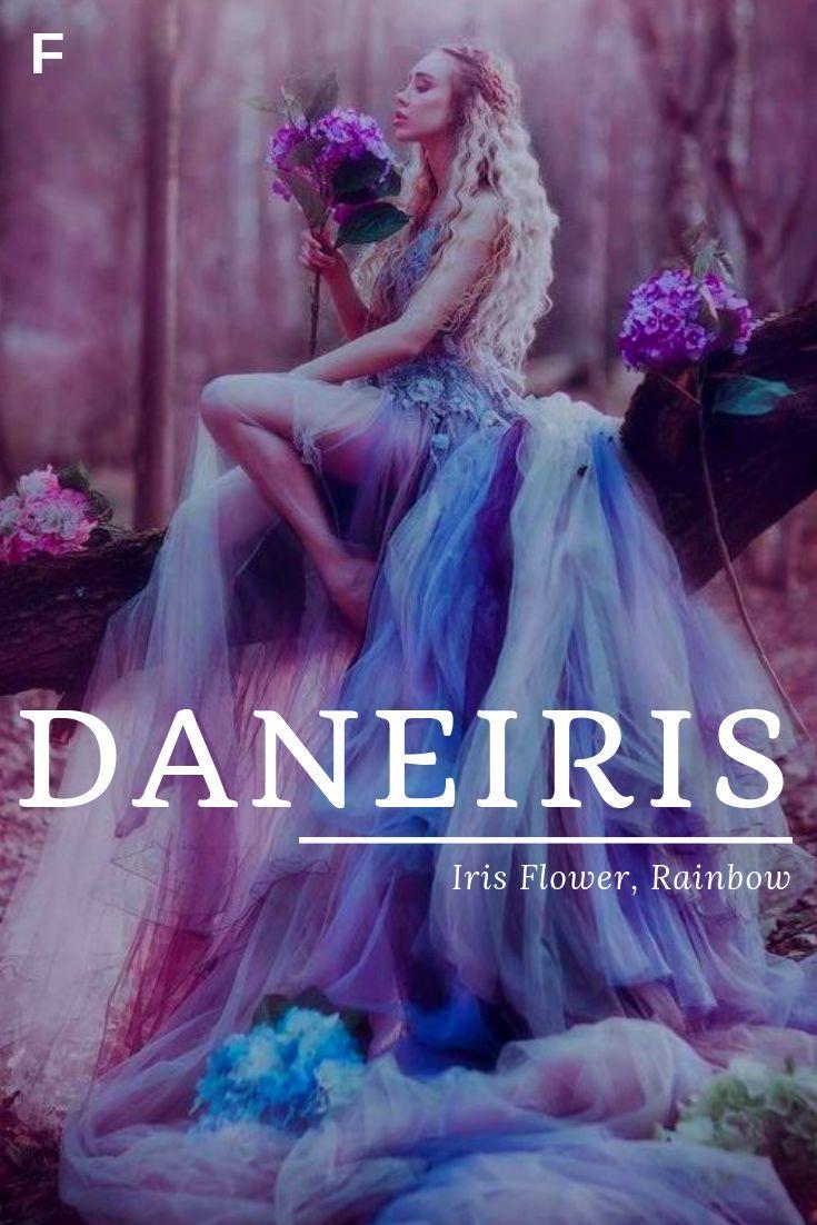 Daneiris, meaning Iris Flower, Rainbow, Old English names, D baby girl names, D #babygirlnames