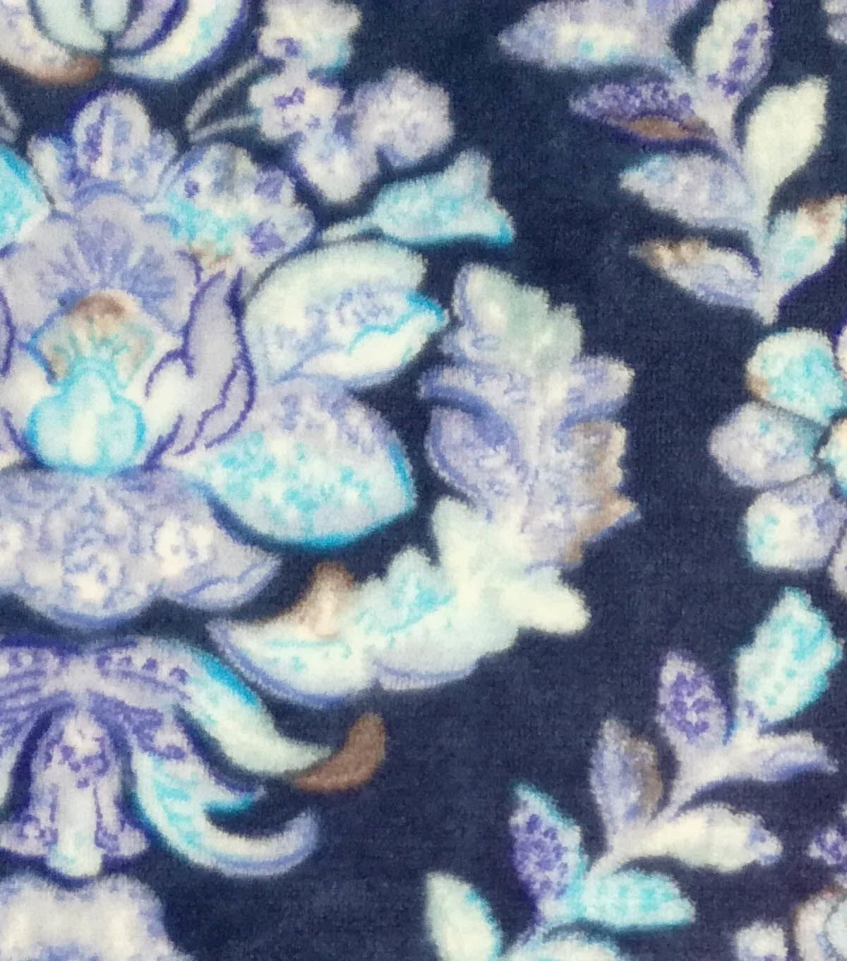 Sew lush fleece fabric watercolor damask in products