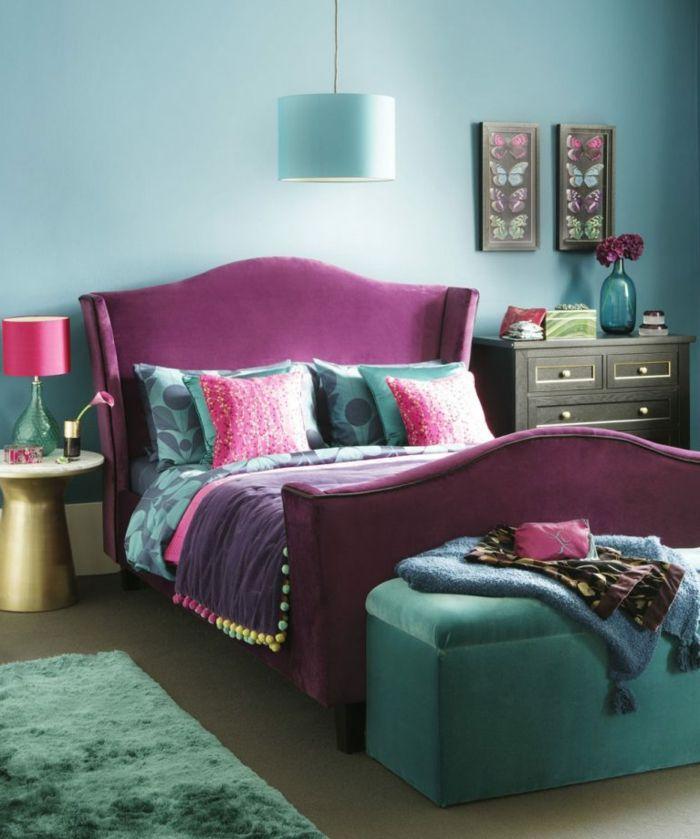 Dormitorios Con Acentos En Morado P�rpura Y Lila: 1001 + Ideas De Decoración Con Cuadros Para Dormitorios