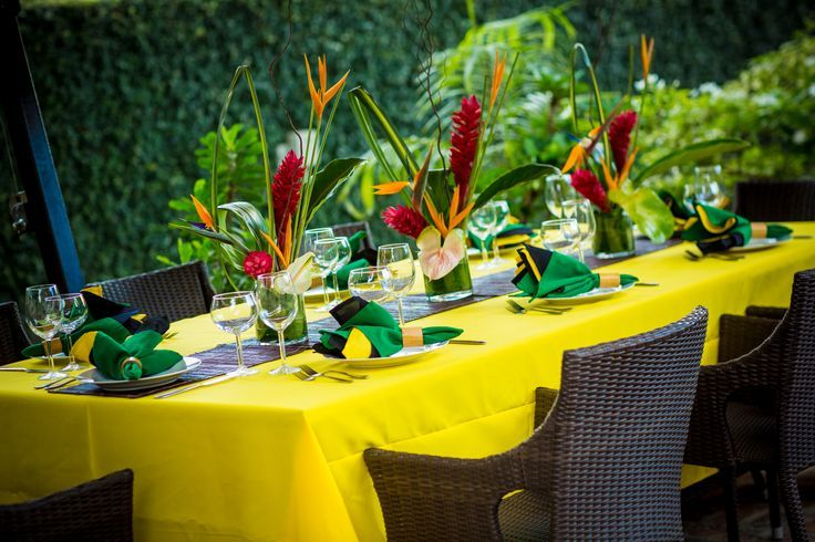 Caribbean Theme Party Ideas On Pinterest: Jamaican Themed Table Settings - Google Search