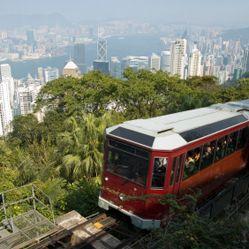 Tram to victoria peak