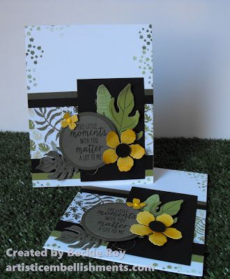 pair of handmade cards from Artistic Embellishments ... Botanical Blooms ... great layout design ... Stampin' Up!