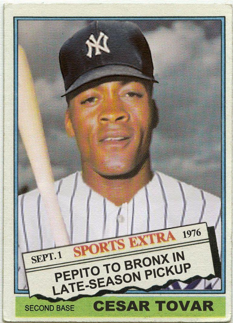 Cesar Tovar Baseball Card 1976 Topps Traded The Missing Cards