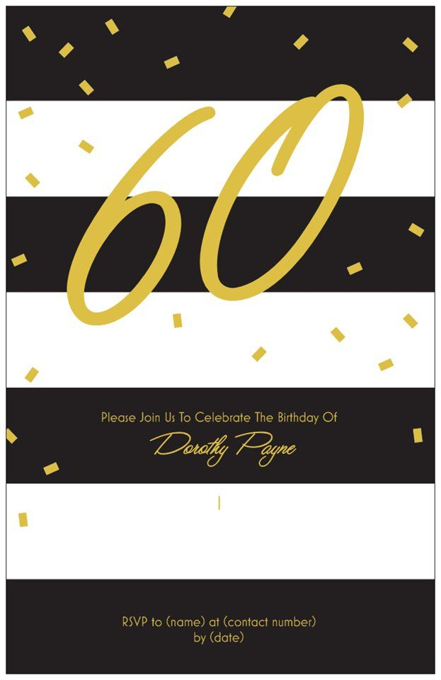 Invitation Idea For Mom\'s 60th Birthday | Mom\'s 60th Birthday Party ...