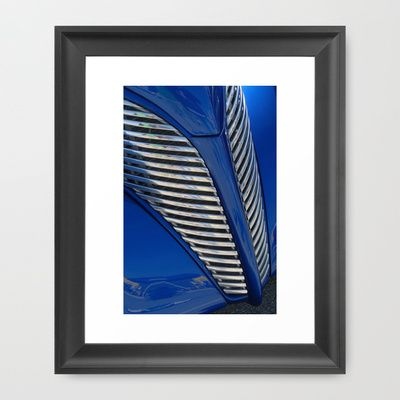 Blue and Chrome Framed Art Print by Colleen G. Drew - $37.00