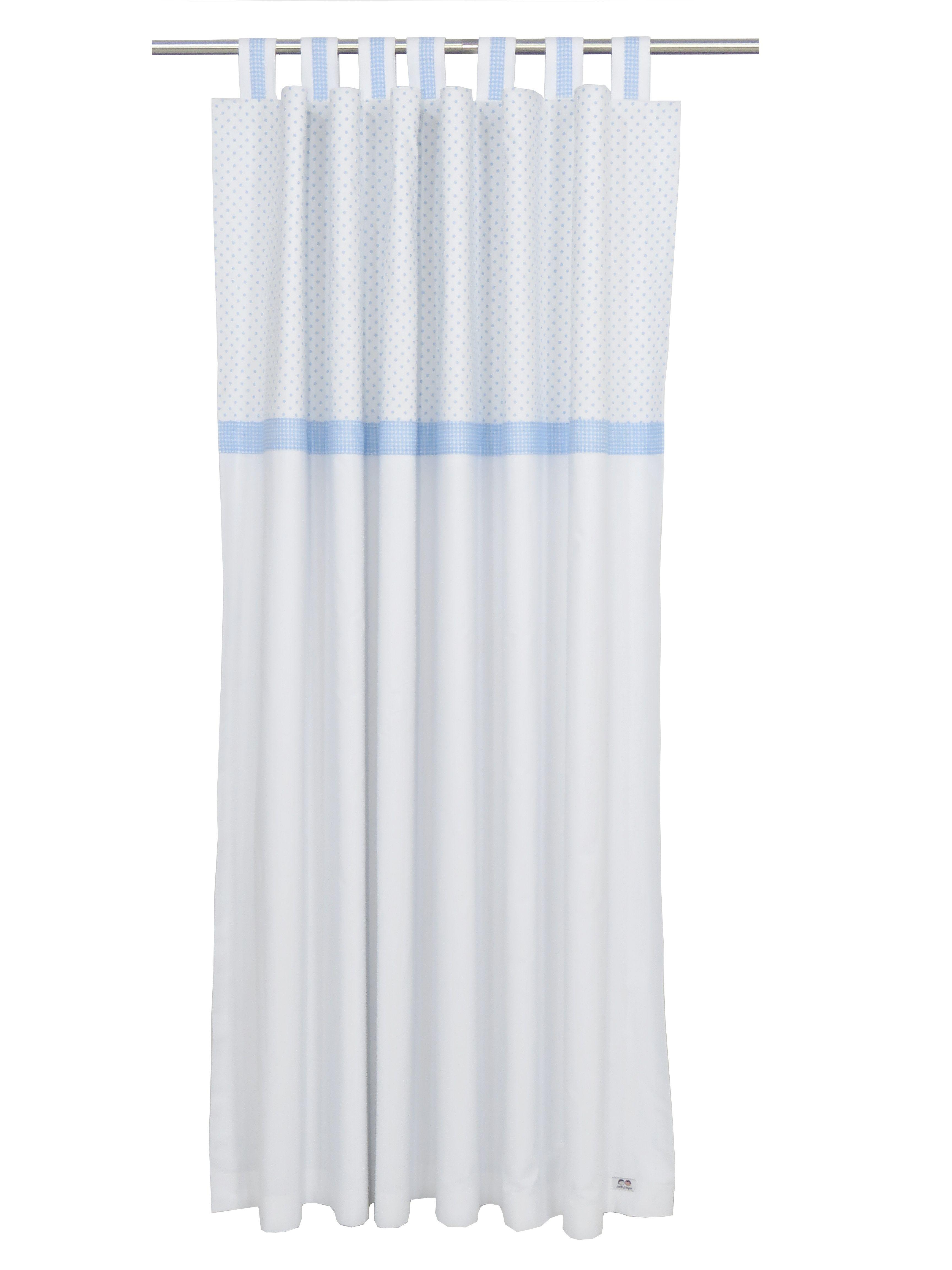 Baby Light Blue White Nursery Curtains Custom