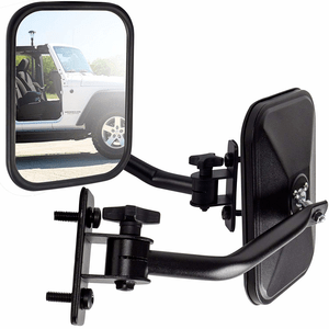 Jeep Wrangler Quick Release Jeep Mirrors With Adjustable Arms For Jeep Jk Models Jeep Mirrors Jeep Wrangler Jeep