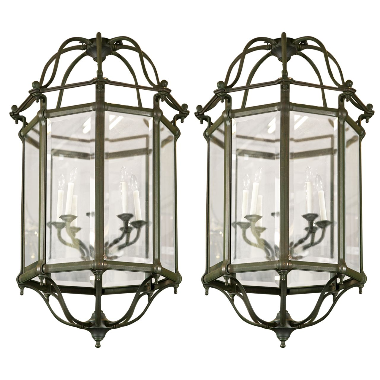 Vintage beveled glass lantern style chandeliers glass lanterns vintage beveled glass lantern style chandeliers arubaitofo Image collections