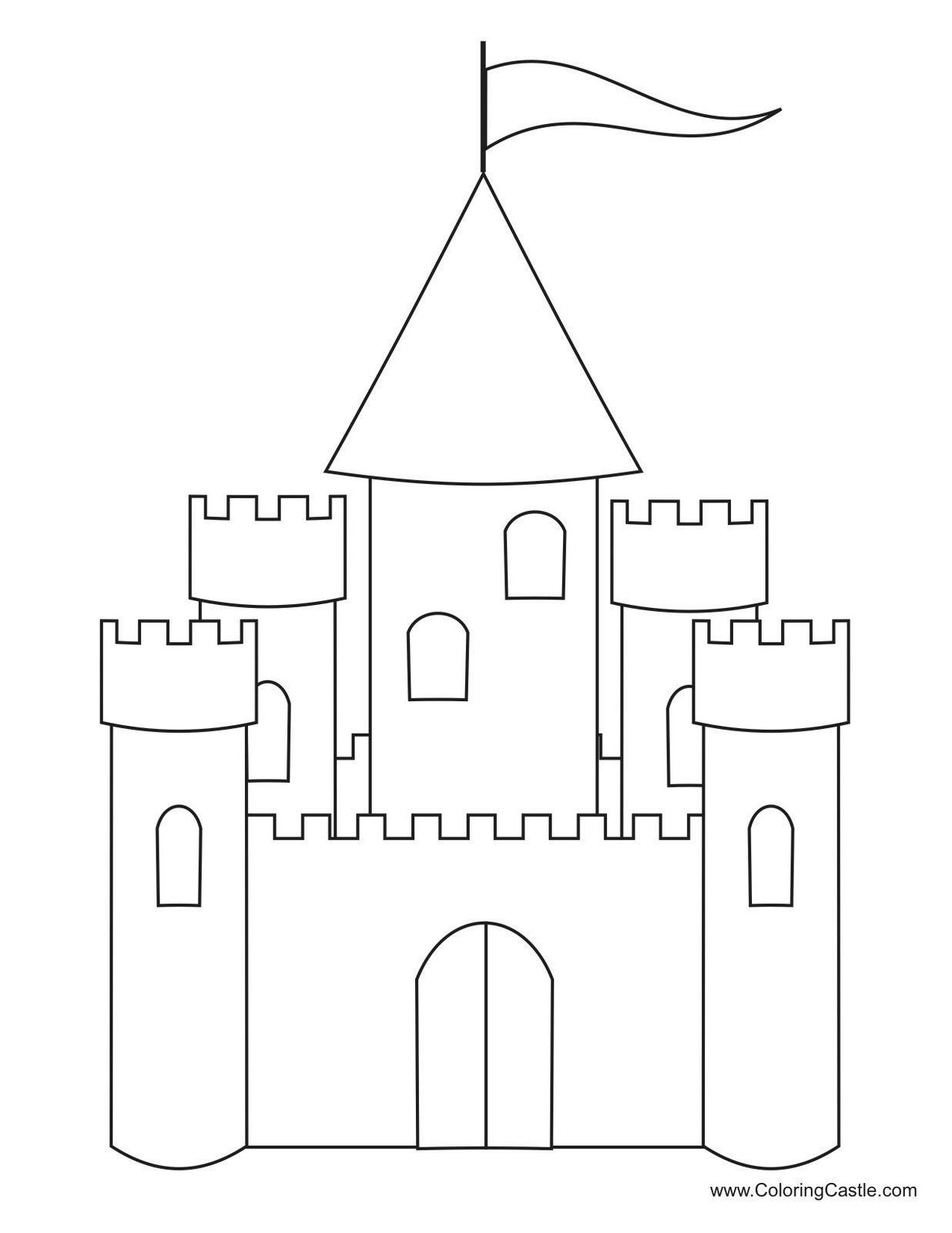 Albumarchiv Castle Coloring Page Princess Coloring Pages Castle Crafts