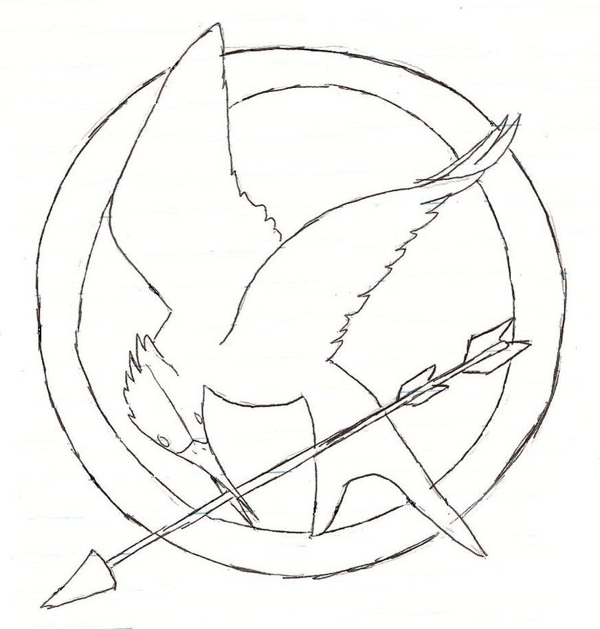 mockingjay pumpkin template | Pumpkin carving templates ... |Hunger Games Mockingjay Pin Outline