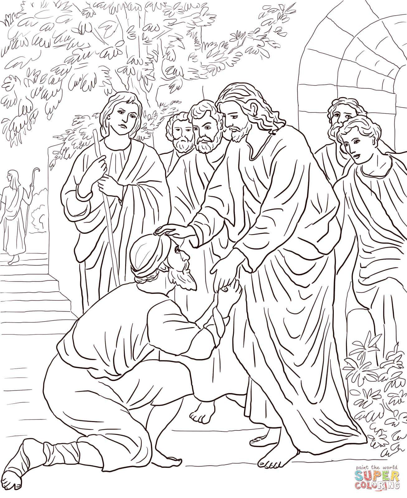 Jesus Heals Bartimaeus With Images