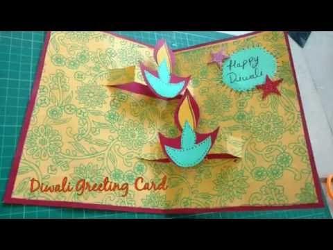 Diy Diwali Greeting Card Making Idea Diwali Popup Card How To Craftlas Diwali Greeting Cards Diwali Greeting Card Making Handmade Diwali Greeting Cards