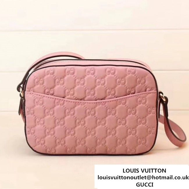 569489c4696 Gucci Signature Leather Camera Shoulder Bag 453770 Pink (XYS-7112103 ...