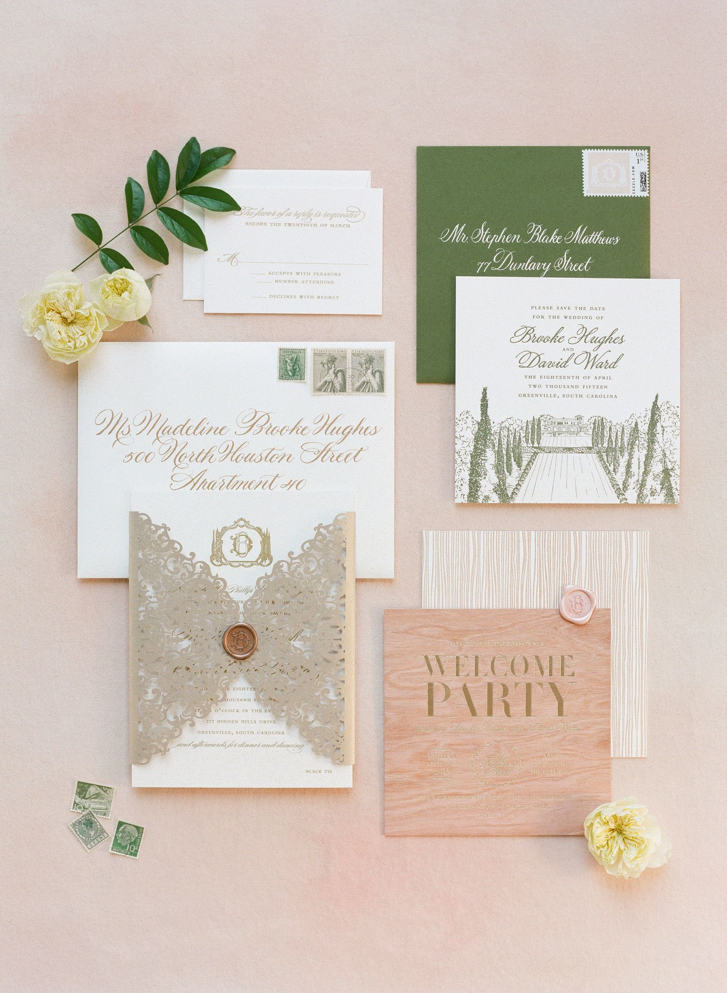 Bring spring invitations to life with a pop of one very spring ...