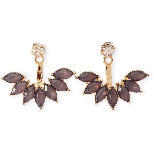FOREVER21 Purple & Gold Rhinestone Ear Jackets http://goo.gl/z2uz0Z
