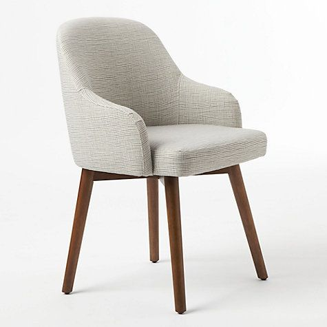 West Elm Saddle Dining Chair Steel Ivory Online At Johnlewis