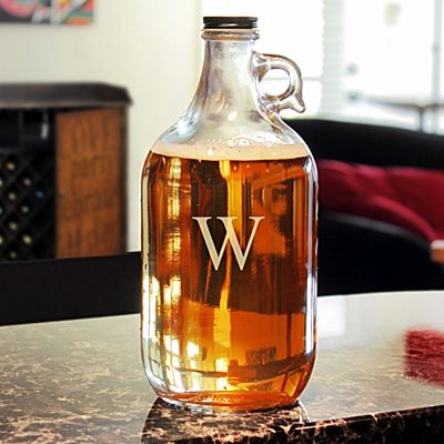 Awesome Monogrammed Craft Beer Growler