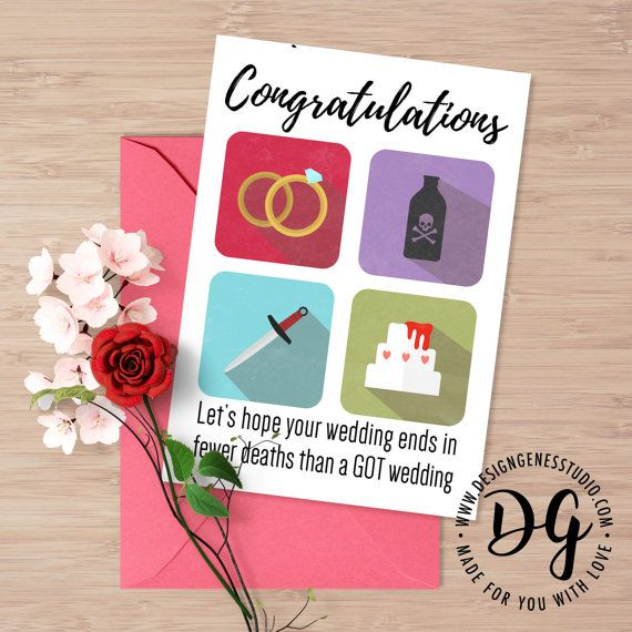 Game Of Thrones Wedding Card GOT Red Wedding By