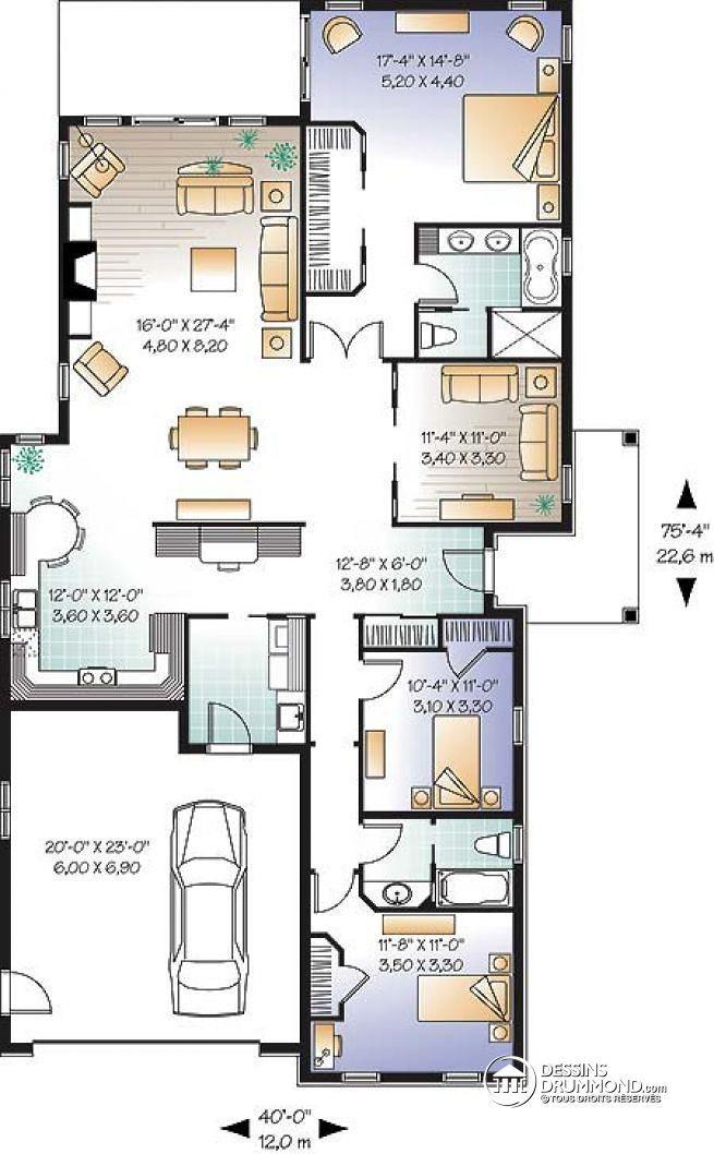 Plan de maison unifamiliale Locanda No 3252 en 2018 plan maison