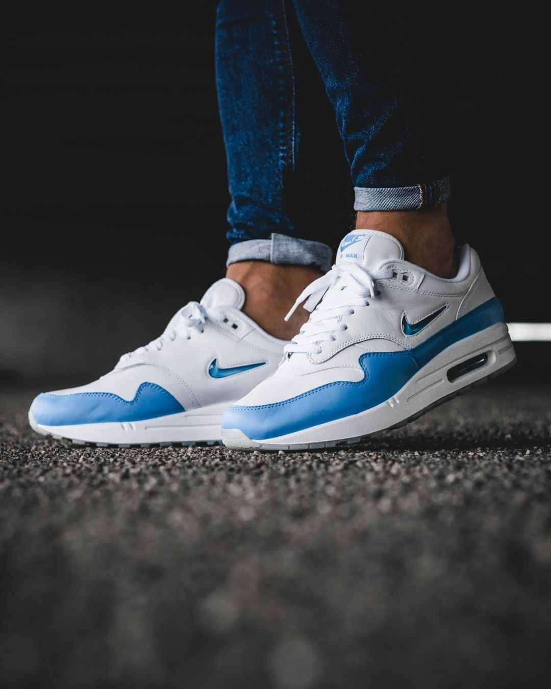 check out 3b17b a760c Nike Air Max 1 Premium SC  Jewel Swoosh    918354-102 (via Kicks-daily.com)  Click to shop. Find this Pin and more on Shoes ...