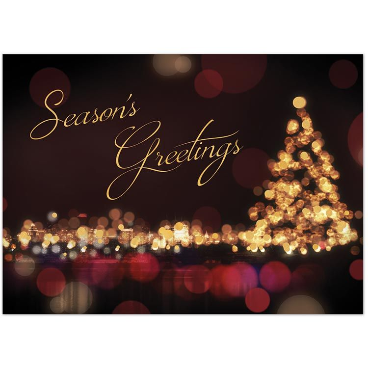 Send your season\'s greetings in style with a personalized business ...