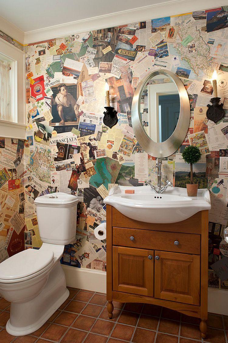 Trang Tri Tường Với Bi Quyết độc đao Beautiful Bathroom Designs Bathroom Wall Decor Eclectic Bathroom