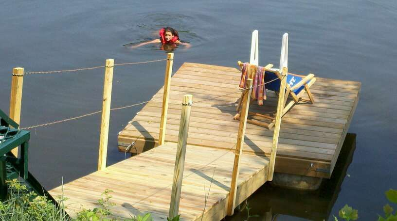 Floating Dock With Barrels Updated Floating Dock Building A Dock Lake House