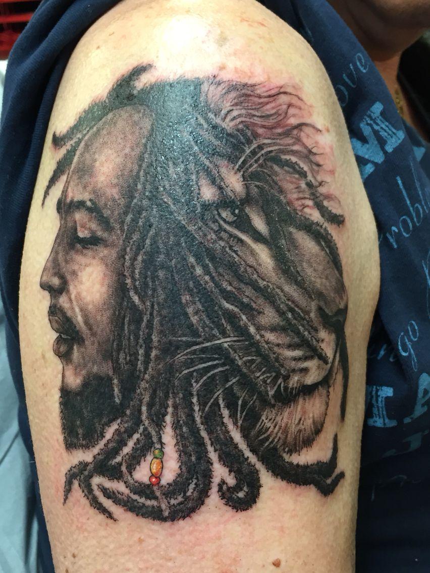 Bob marley lion bob marley lion portrait tattoo