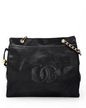 88da226c02 Chanel Lu Genuine Leather Logo Made In Italy Black Tote Bag $3,649 ...