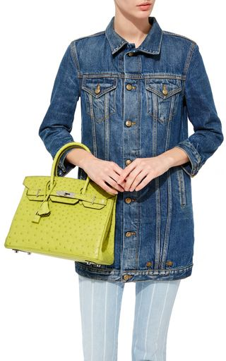 Hermès 30cm Vert Anis Ostrich Birkin by HERITAGE AUCTIONS SPECIAL COLLECTION for Preorder on Moda Operandi