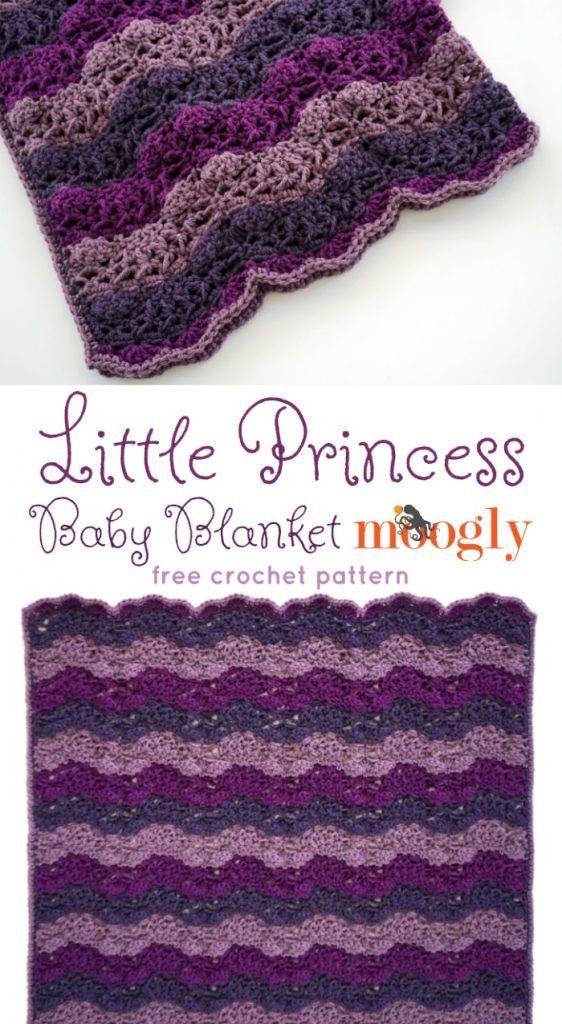 Little Princess Baby Blanket - FREE #Crochet pattern on Moogly!