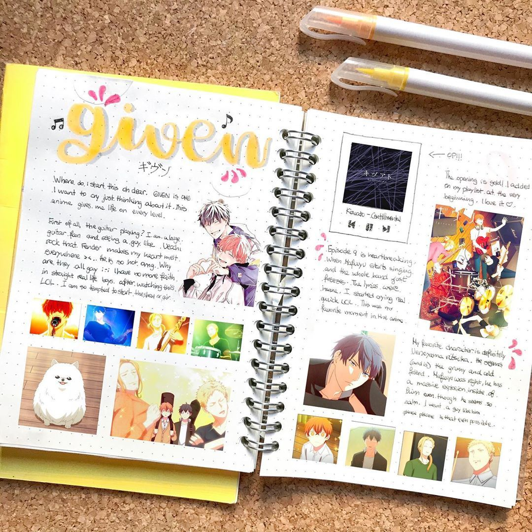Mochi S Bujo En Instagram Where Can I Start Without Crying About This Anime D Gi Bullet Journal Writing Bullet Journal Aesthetic Anime Book
