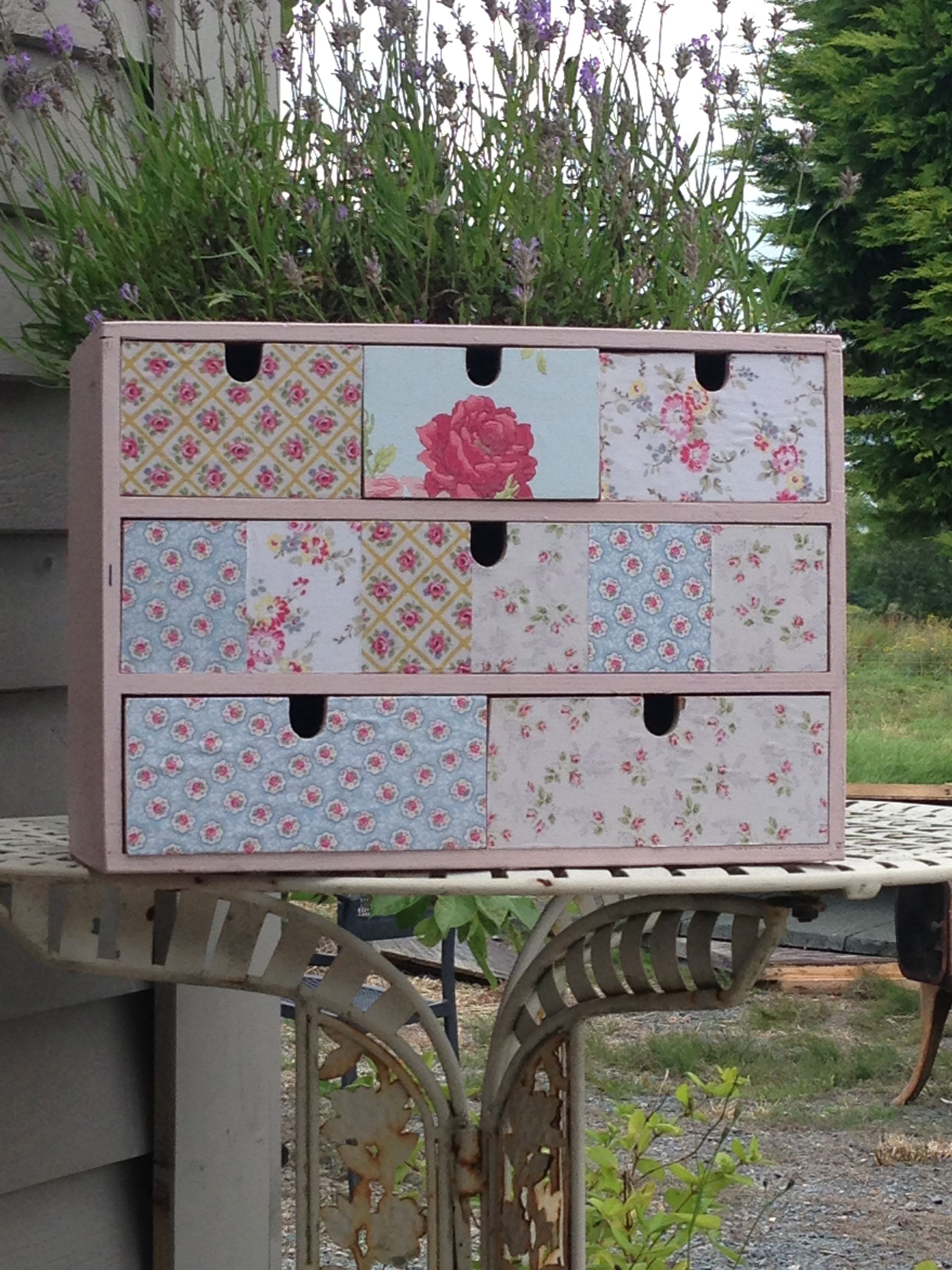 Wee drawers all painted up with cath kidston paper