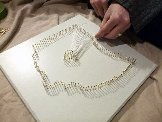 DIY String Map Art | string art | Pinterest | String art, Crafty and ...