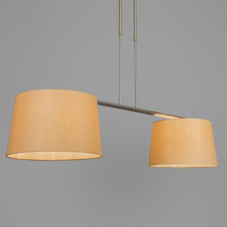 Pendelleuchte Combi Delux 2 Schirm Rund 40cm Beige Lampe Esstischlamme Wohnzimmerlampe