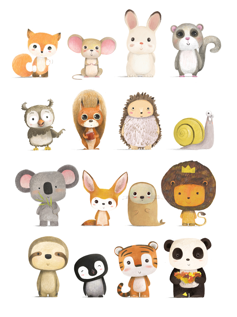 Pin By Maria Domenica On Birthday Animal Illustration Kids Cute Drawings Cute Animal Drawings